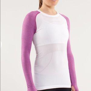 Lululemon Swiftly Tech long sleeve violet top